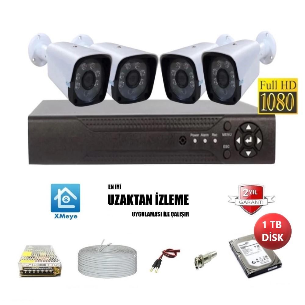 4 Lü Full HD Güvenlik Kamera Sistemi | Güvenlik Kamerası Modelleri