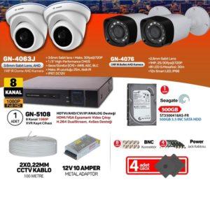 4lü güvenlik kamera seti
