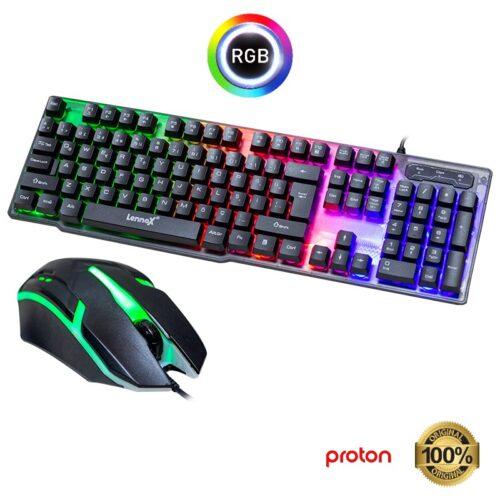 Oyuncu Mouse Klavye Seti Lennox T302